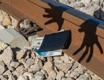 Crime financier, vol, escroquerie Photos stock