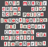 Crime and forensic science theme illustration. Anonymous letter Stock Photo