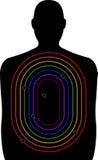 Crime homofóbico da arma - alvo da escala de tiro Imagens de Stock