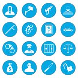 Crime icon blue. Crime simple icon blue isolated vector illustration Stock Image