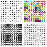 100 crime icons set variant. 100 crime icons set in 4 variant for any web design isolated on white Vector Illustration