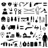 Crime icons, Royalty Free Stock Photos