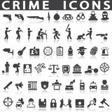 Crime icons. On a white background with a shadow Royalty Free Stock Images