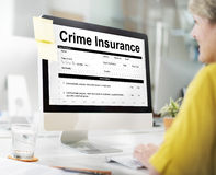Crime Insurance Form Information Concept Stock Image