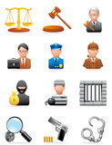 Crime and justice icons Royalty Free Stock Images