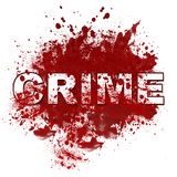 Crime Messy Blot Stock Image