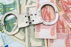 Crime and Money Stock Image