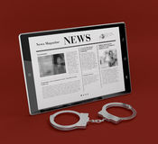 Crime news Stock Photography