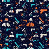 Crime pattern dark Stock Image