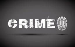 Crime prevention fingerprint. Crime prevention with a fingerprint Royalty Free Stock Images