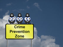 Crime Prevention UK Royalty Free Stock Photography