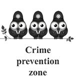 Crime Prevention Zone Stock Photos