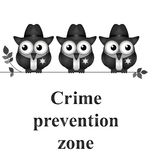Crime Prevention Zone Royalty Free Stock Photo