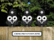 Crime prevention Zone UK Royalty Free Stock Photo