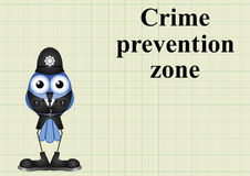 Crime prevention zone UK Stock Photography