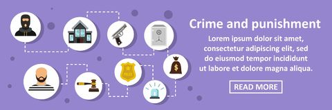 Crime and punishment banner horizontal concept Stock Images