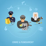 Crime and Punishment Concept Stock Images
