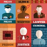 Crime And Punishment Poster Set Stock Photography