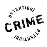 Crime rubber stamp Royalty Free Stock Images