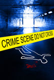 Crime scene Stock Image