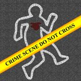 Crime scene Royalty Free Stock Image