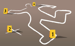 Crime scene vector Royalty Free Stock Image