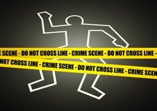 Crime Scene. Illustration of a police line on crime scene Stock Image