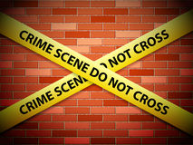 Crime scene background Royalty Free Stock Photo
