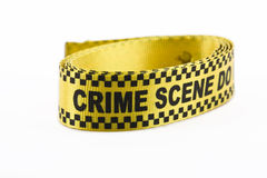 Crime scene banner in a roll, isolated on white Stock Photo