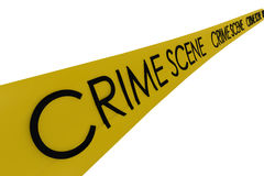 Crime scene banner. In white and isolated background, 3D rendering Stock Photos