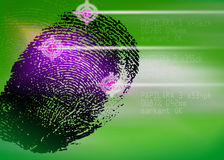 Crime scene - Biometric Security Scanner - Identification. Finger print royalty free stock photo