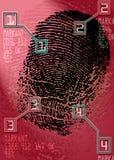 Crime scene - Biometric Security Scanner - Identification Stock Photo