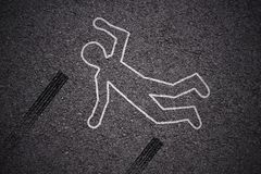 Crime scene - car accident royalty free stock image