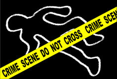 Crime Scene Chalk Mark Royalty Free Stock Photography