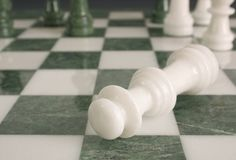 Crime scene - chessmate Royalty Free Stock Photo