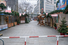 The crime scene at Christmas Market in Berlin Royalty Free Stock Images