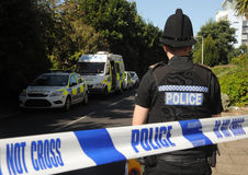 Crime scene cordon. England. September 2012 Royalty Free Stock Photos