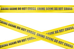 Crime scene cordon tape Stock Photos
