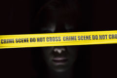 Crime scene cordon tape Royalty Free Stock Photos