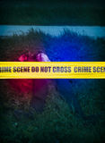 Crime Scene Cordon Tape Royalty Free Stock Images