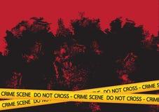 Crime scene danger tapes  illustration Royalty Free Stock Image