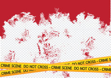 Crime scene danger tapes illustration Royalty Free Stock Image