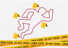 Crime scene danger tapes illustration Stock Images