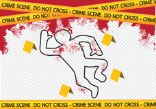 Crime scene danger tapes illustration Stock Photography