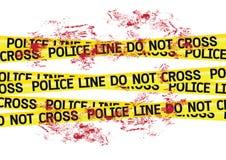 Crime scene danger tapes illustration Stock Image