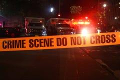 Crime Scene Do Not Cross royalty-vrije stock afbeelding