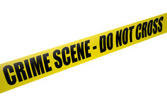 Crime Scene Do Not Cross Stock Foto's