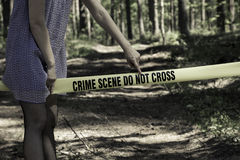 Crime Scene Do Not Cross.  royalty free stock photography