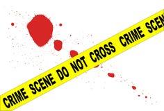 Crime Scene Do Not Cross Stock Afbeeldingen