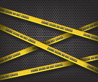 Crime scene do not cross. Background illustration Royalty Free Stock Photos